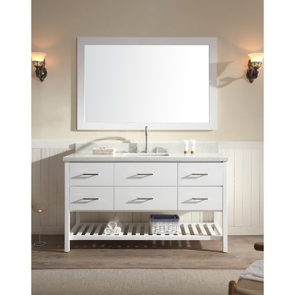 Shakespeare 61-inch Single Sink Vanity Set in White