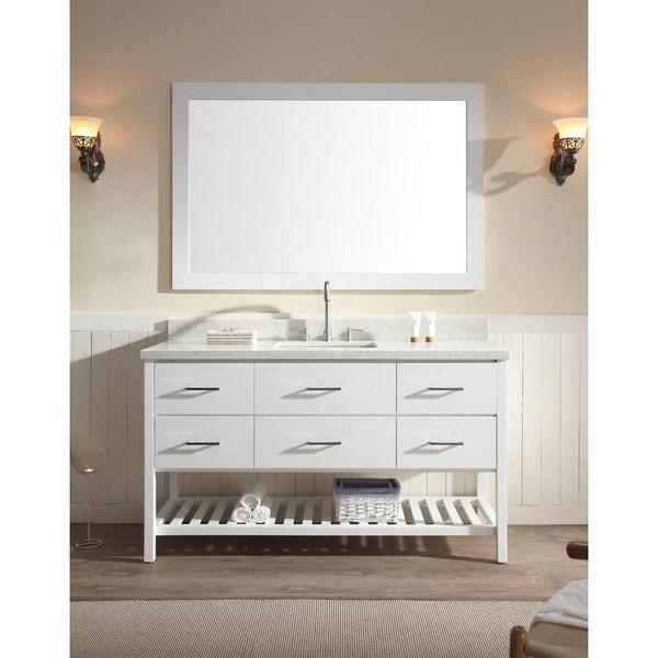Shakespeare 61-inch Single Sink Vanity Set in White