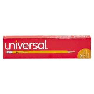 Universal Economy Woodcase Yellow Barrel Pencil (10 Packs of 12)