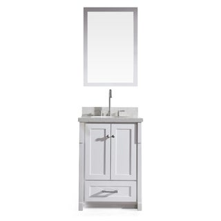 Adams 25-inch Single Sink Vanity Set in White