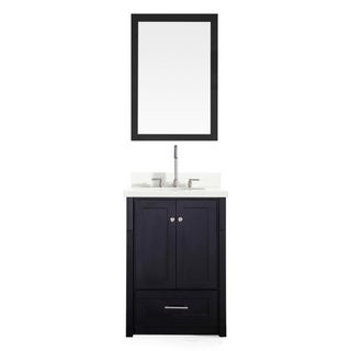Adams 25-inch Single Sink Vanity Set in Black