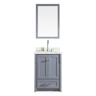 Adams 25-inch Single Sink Vanity Set in Grey