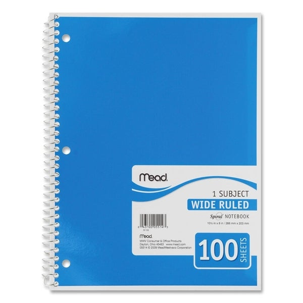 Mead White Spiral Bound Notebook (Pack of 10)