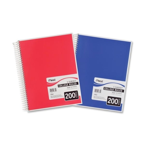 Mead White 5 Subject Notebook (Pack of 5)