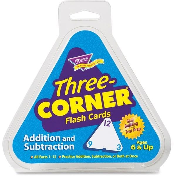 Trend Addition Subtraction Three Corner Flash Cards 2