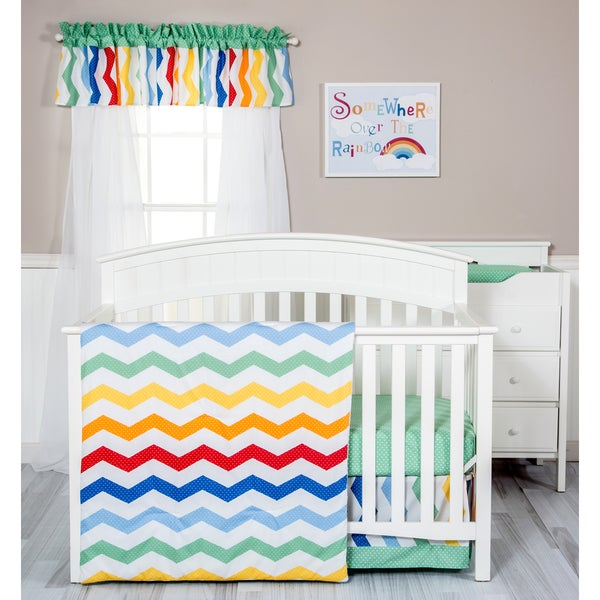 Trend Lab Happy Chevron 3-piece Crib Bedding Set