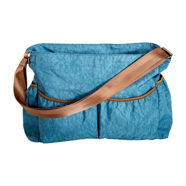 Trend Lab Blue Crinkle Tote Diaper Bag