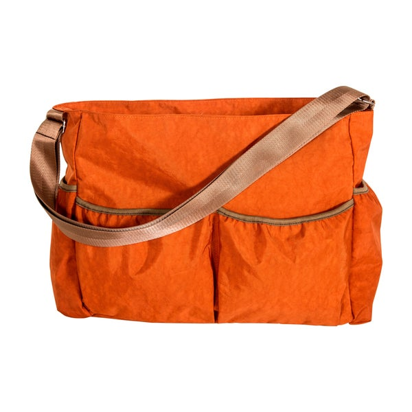 Trend Lab Orange Crinkle Tote Diaper Bag