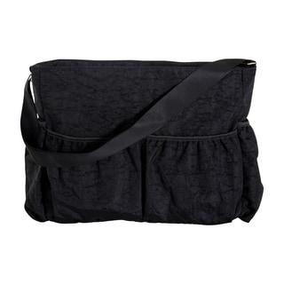 Trend Lab Black Crinkle Tote Diaper Bag