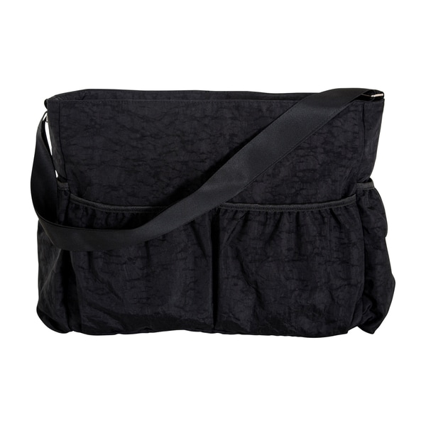 Trend Lab Black Crinkle Tote Diaper Bag