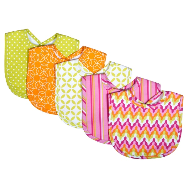 Trend Lab Savannah 5-pack Bib Set