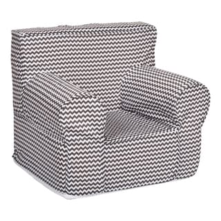 Trend Lab Bedtime Grey Chevron Petite Accent Chair