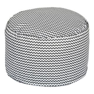Trend Lab Bedtime Grey Chevron Petite Pouf Chair