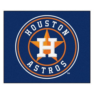 Fanmats Machine-Made Houston Astros Blue Nylon Tailgater Mat (5' x 6')