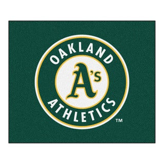 Fanmats Machine-Made Oakland Athletics Green Nylon Tailgater Mat (5' x 6')