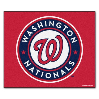 Fanmats Machine-Made Washington Nationals Red Nylon Tailgater Mat (5' x 6')