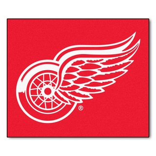 Fanmats Machine-Made Detroit Red Wings Red Nylon Tailgater Mat (5' x 6')
