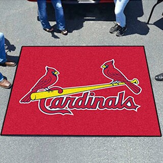 Fanmats Machine-Made St Louis Cardinals Blue Nylon Tailgater Mat (5' x 6')