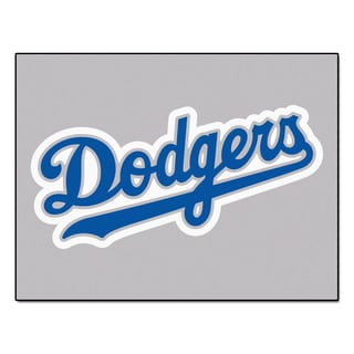 Fanmats Machine-Made Los Angeles Dodgers Grey Nylon Tailgater Mat (5' x 6')