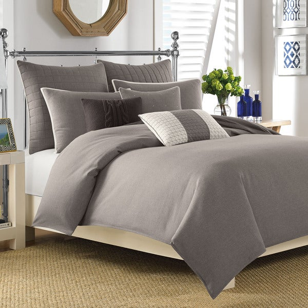 Nautica Longitude Mocha 3-piece Duvet Cover Set