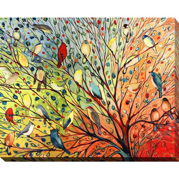 Jennifer Lommers '27 Birds' Giclee Print Canvas Wall Art 15319526
