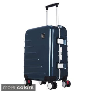 Traveler's Club Seat On Collection 20-inch Spinner Upright Suitcase