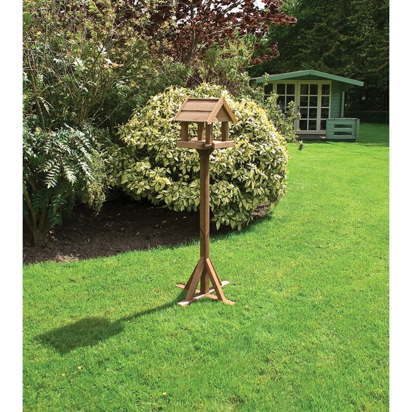 English Garden Wood Bird Feeder