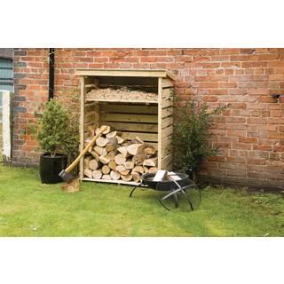 English Garden Firewood Storage Shed