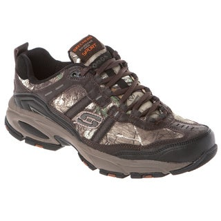 Skechers USA Suede and Mesh Jogger with Real Tree Camo Rubber Toe Cap And Memory Foam Footbed