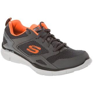 Skechers USA 2-toned Knit Mesh Upper Gel Top Dual Density Memory Foam Sneakers