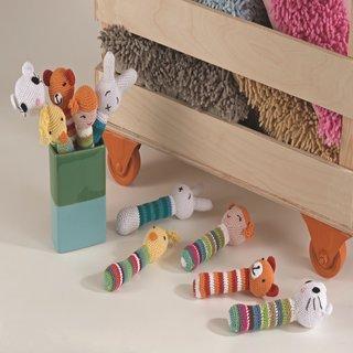 Saro Handmade Crochet Rattle Set of 5