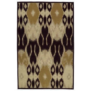 Indoor/Outdoor Luka Brown Ikat Rug (2'1 x 4'0)