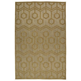 Indoor/Outdoor Luka Light Brown Zig-Zag Rug (7'10 x 10'8)