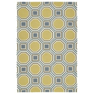 Indoor/Outdoor Handmade Getaway Gold Rug (8'0 x 10'0)