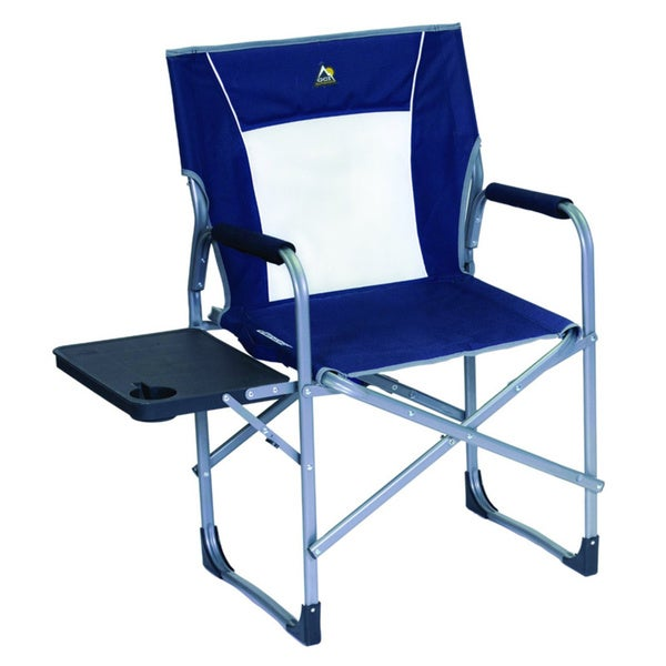 Slim Fold Directors Chair Blue