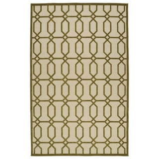 Indoor/Outdoor Luka Olive Geo Rug (8'8 x 12'0)