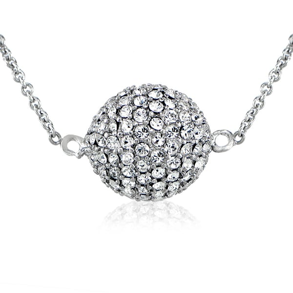 Crystal Ice Silverstone Swarovski Elements Ball Necklace