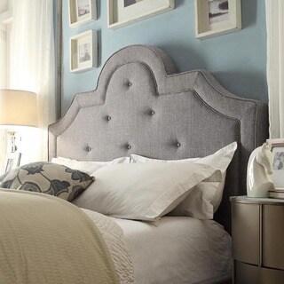 INSPIRE Q Harper Tufted High-arching Linen Upholstered Full-size Headboard