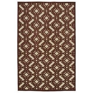 Indoor/Outdoor Luka Terracotta Nomad Rug (3'10 x 5'8)