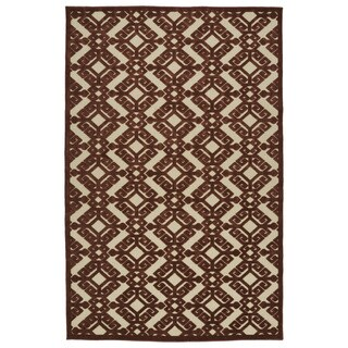 Indoor/Outdoor Luka Terracotta Nomad Rug (7'10 x 10'8)