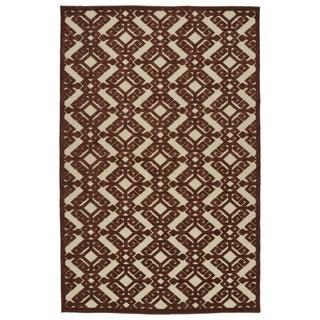 Indoor/Outdoor Luka Terracotta Nomad Rug (5'0 x 7'6)