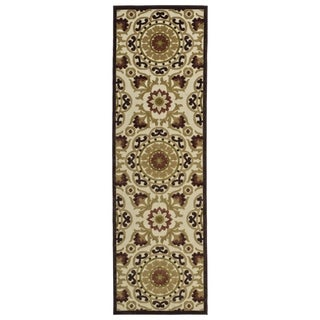 Indoor/Outdoor Luka Khaki Suzani Rug (2'6 x 7'10)
