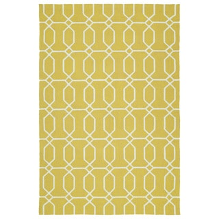 Indoor/Outdoor Handmade Getaway Gold Links Rug (9'0 x 12'0)