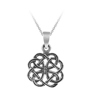 Mondevio Sterling Silver Celtic Oxidized Necklace
