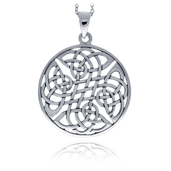 Mondevio Sterling Silver Celtic Knot Round Necklace 15320345