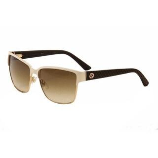 Gucci Women's 4263/S Metal Rectangular Sunglasses