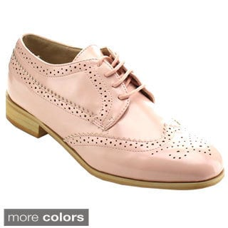 Miim Women's Fiona-02 Classic Wingtip Cut-out Oxfords