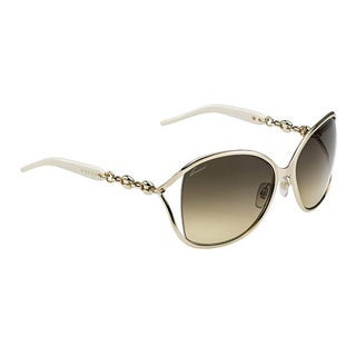 Gucci Women's 4250/S Metal Rectangular Sunglasses
