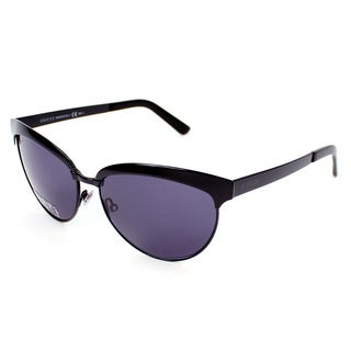 Gucci Women's 4249/S 0006BN Shiny Black Grey Metal Cat Eye Sunglasses
