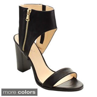 Miim Women's Lea-01 Single Front Strap Heels